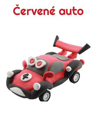 Paulinda modelovací hmota Racing Time auto - červené