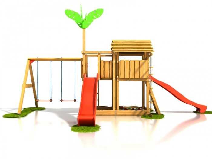 Dřevěné dětské hřiště - Stavebnice hřiště Čikita plus