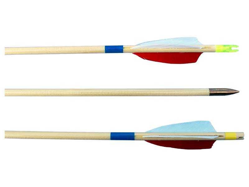 Šíp dřevěný EXTRA 8/760mm, peří