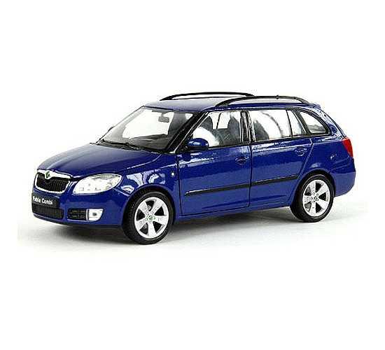 Welly - Škoda Fabia Combi II (2009) 1:24 modrá