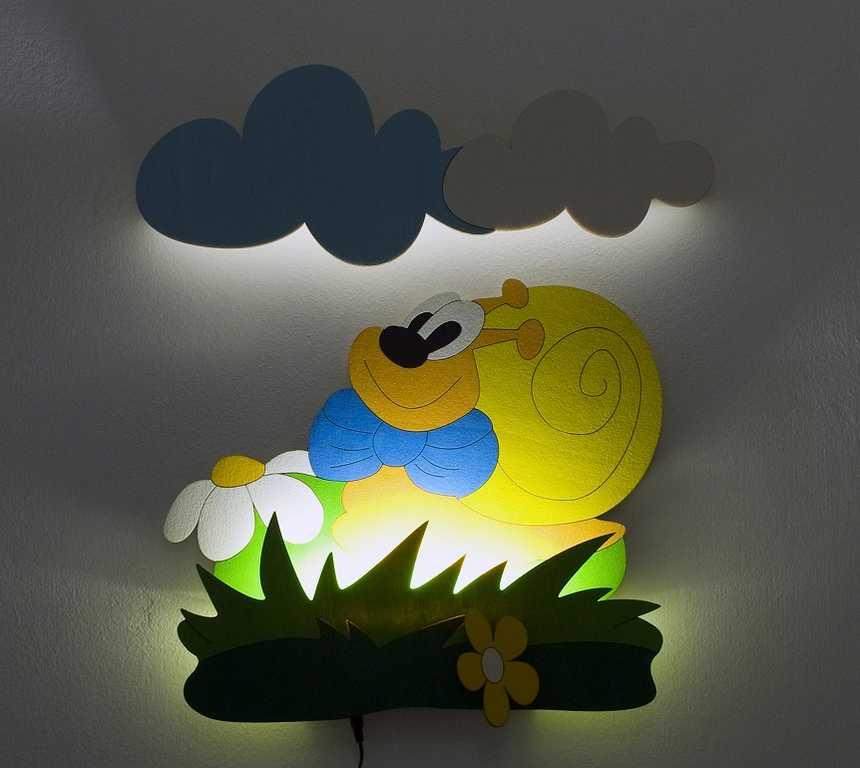 DoDo Dětská LED lampička šnek