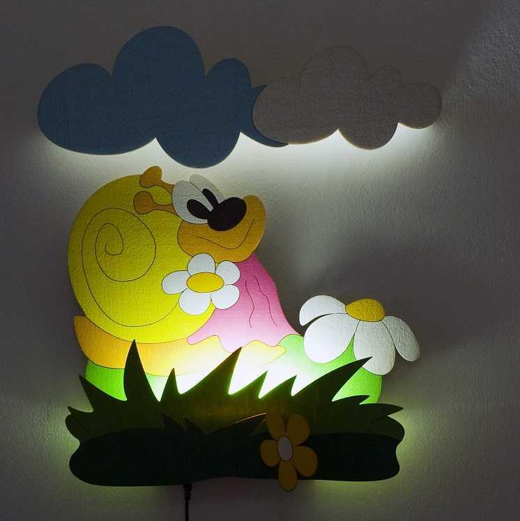 DoDo Dětská LED lampička šneková