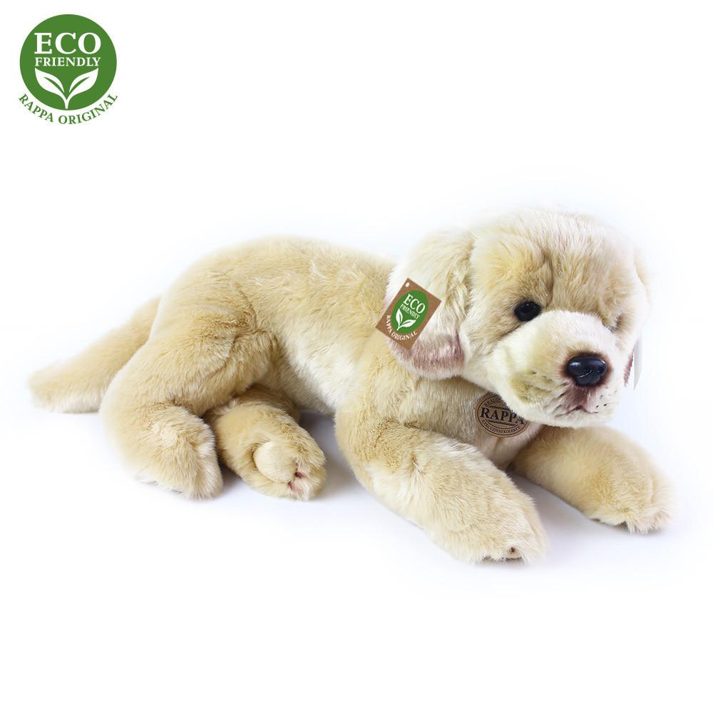 Rappa Plyšový pes labrador ležící 38 cm ECO-FRIENDLY