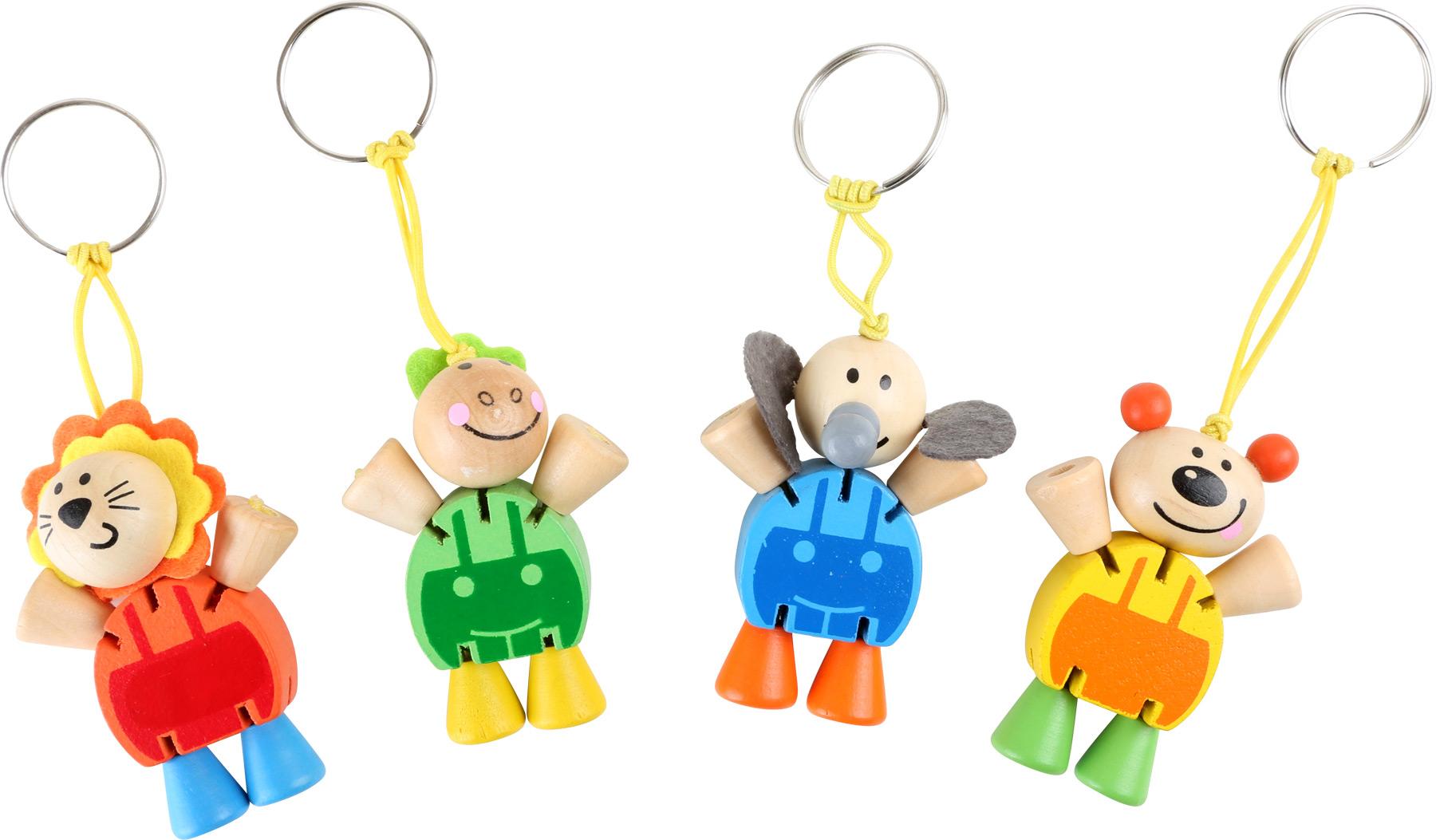 Přívěšek na klíče Flexibilní zvířata 1ks  modrá