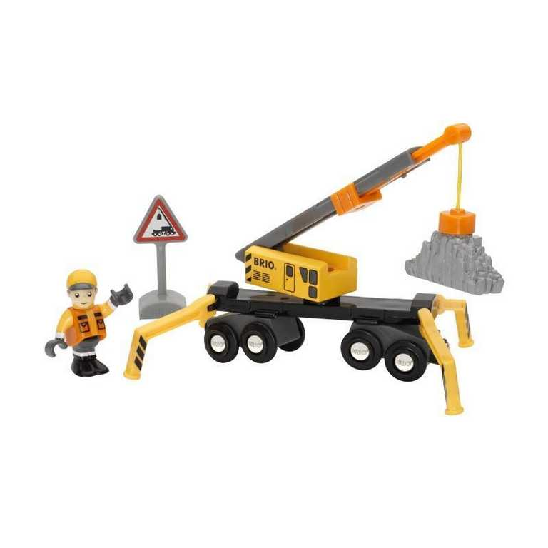 Brio - Stavební jeřáb + příslušenství