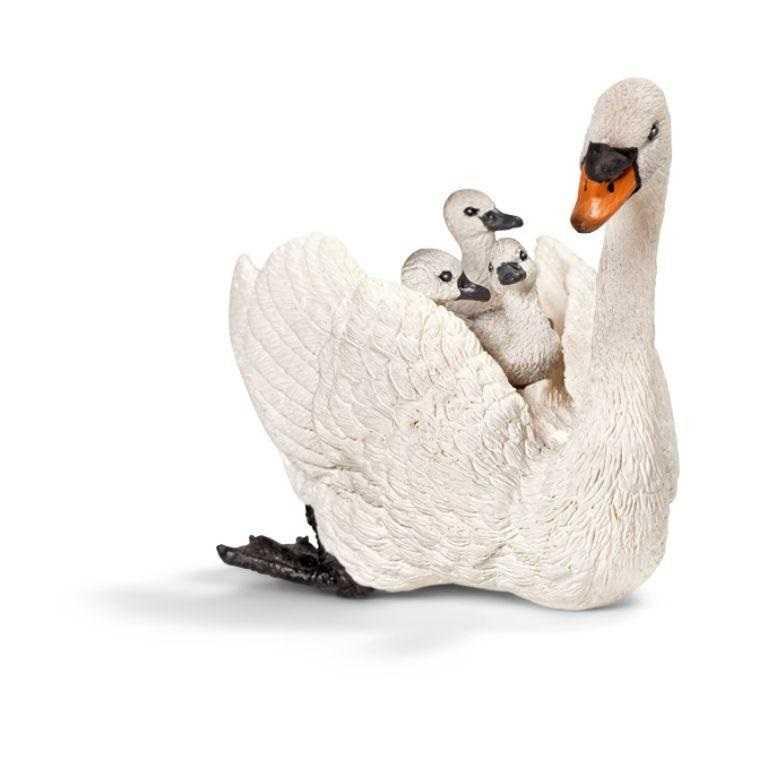Zvířátka Schleich - labuť s mláďaty