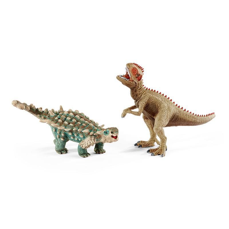 Schleich - Prehistorická sada Giganotosaurus a Saichania malí