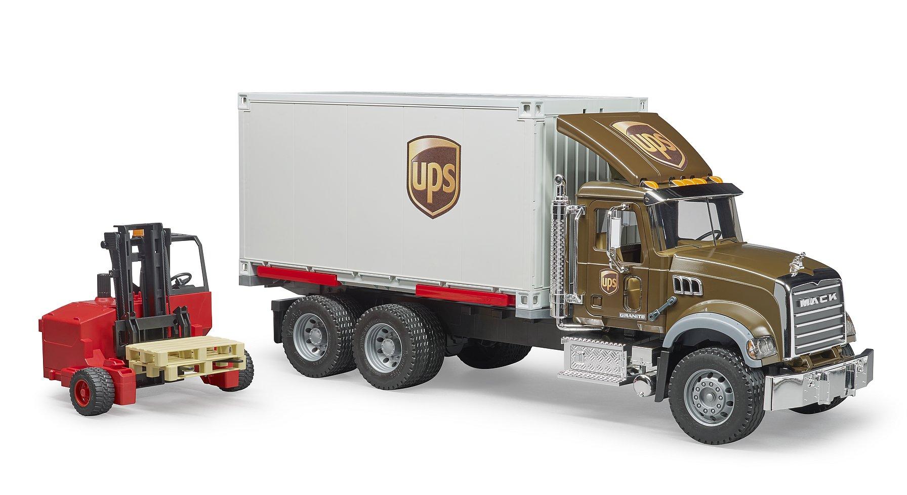 Bruder Nákladní auto Mack UPS s vysokozdvižným vozíkem
