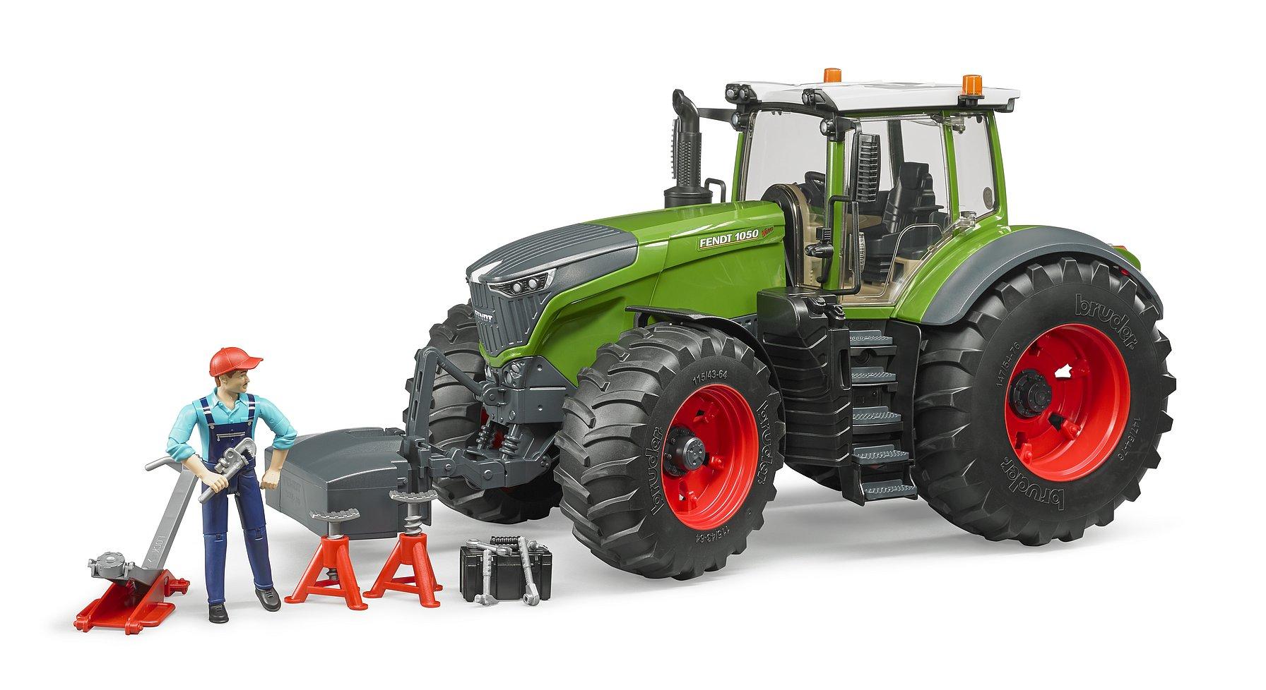Bruder Traktor Fendt 1050 Vario s mechanikem a dílenským nářadím 1:16