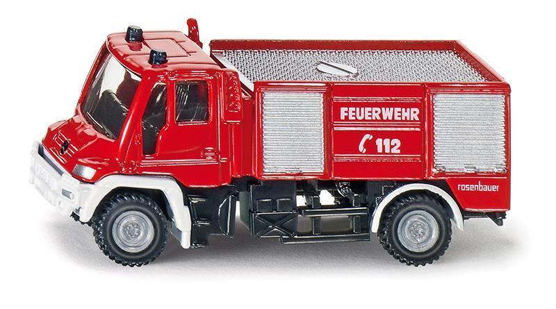SIKU Blister - požární vozidlo Unimog, měřítko 1:87