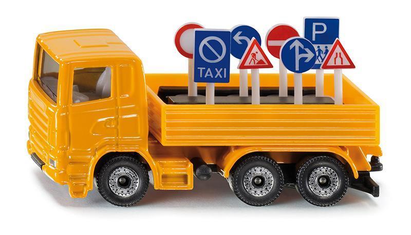 Kovový model - SIKU Blister - Nákladní vozidlo s dopravními