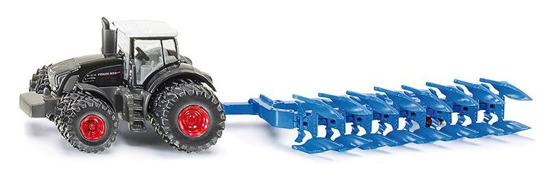 Kovový model - SIKU Farmer - traktor Fendt s pluhem, 1:87