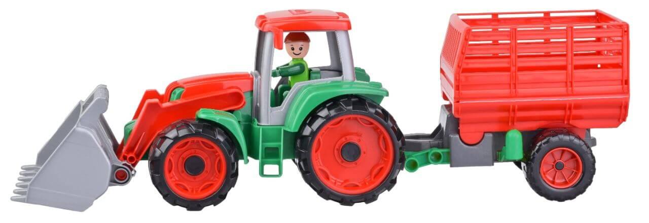 Lena Truxx Traktor s vlekem na seno, ozdobný karton