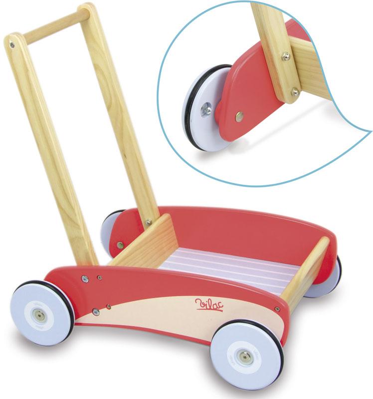 Vilac dřevěný vozík s brzdou