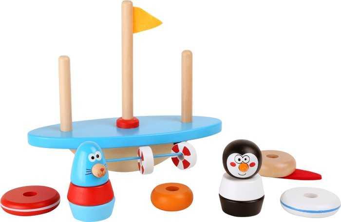 Dřevěná motorická balanční hra - Jižní pól