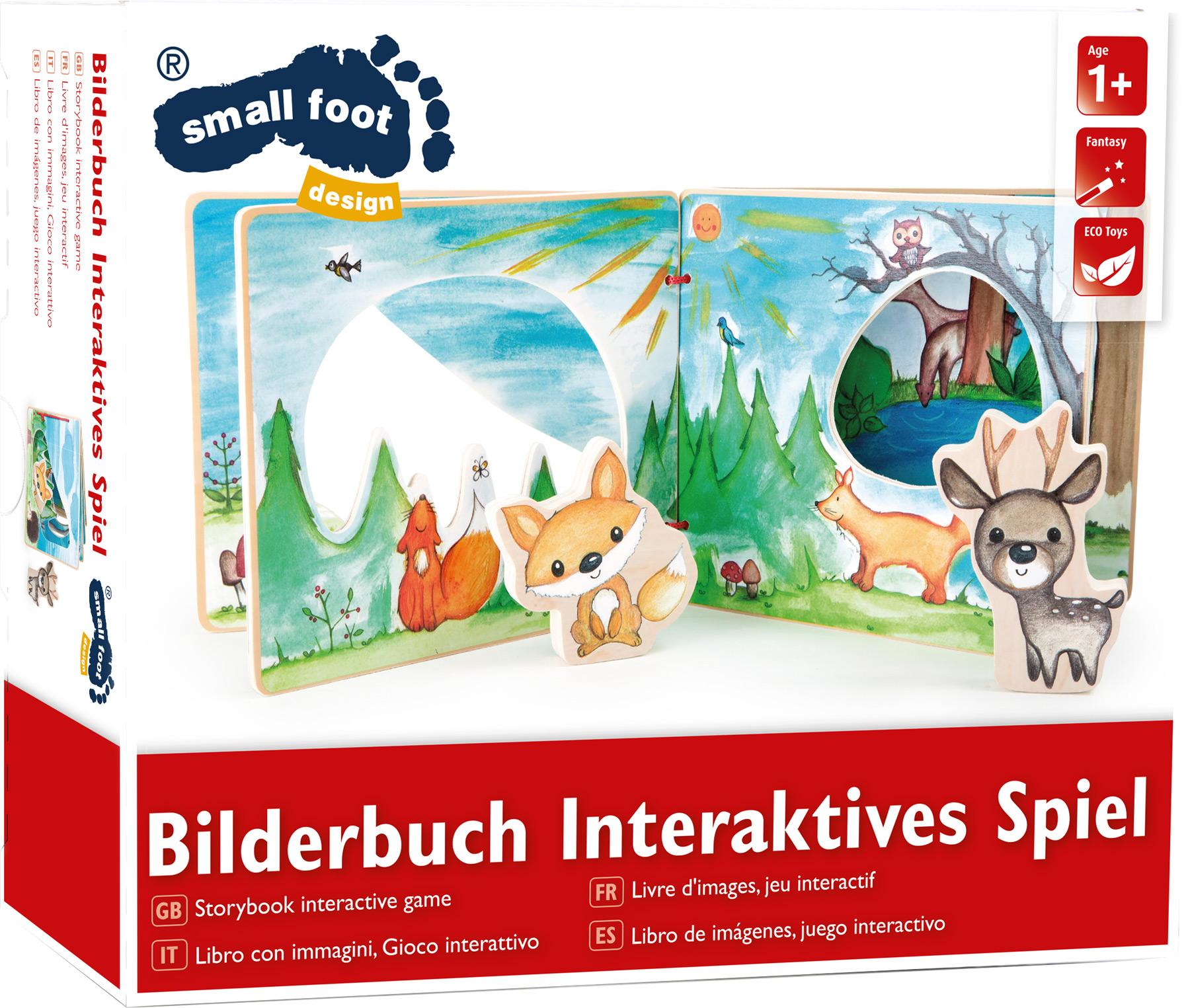 Small Foot Dřevěná obrázková knížka interaktivní hra