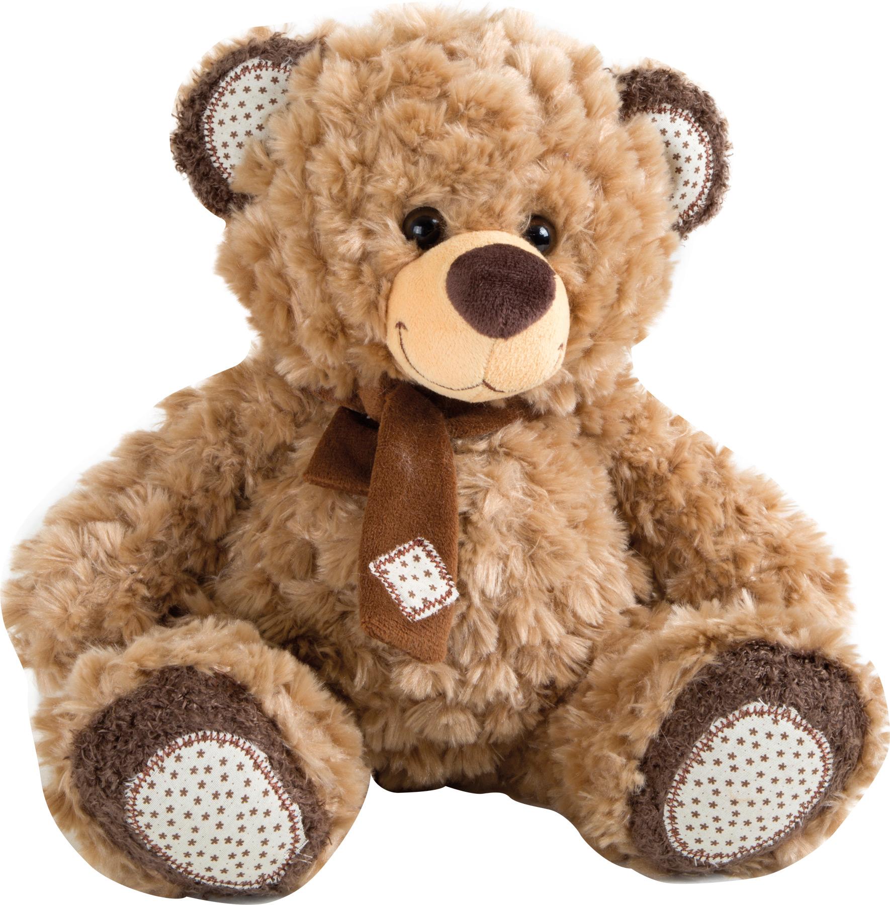 Small Foot Plyšový hnědý medvídek s šálou