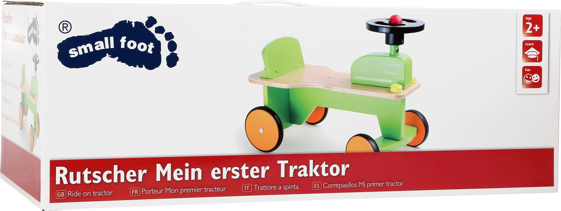 Dřevěné odrážedlo traktor