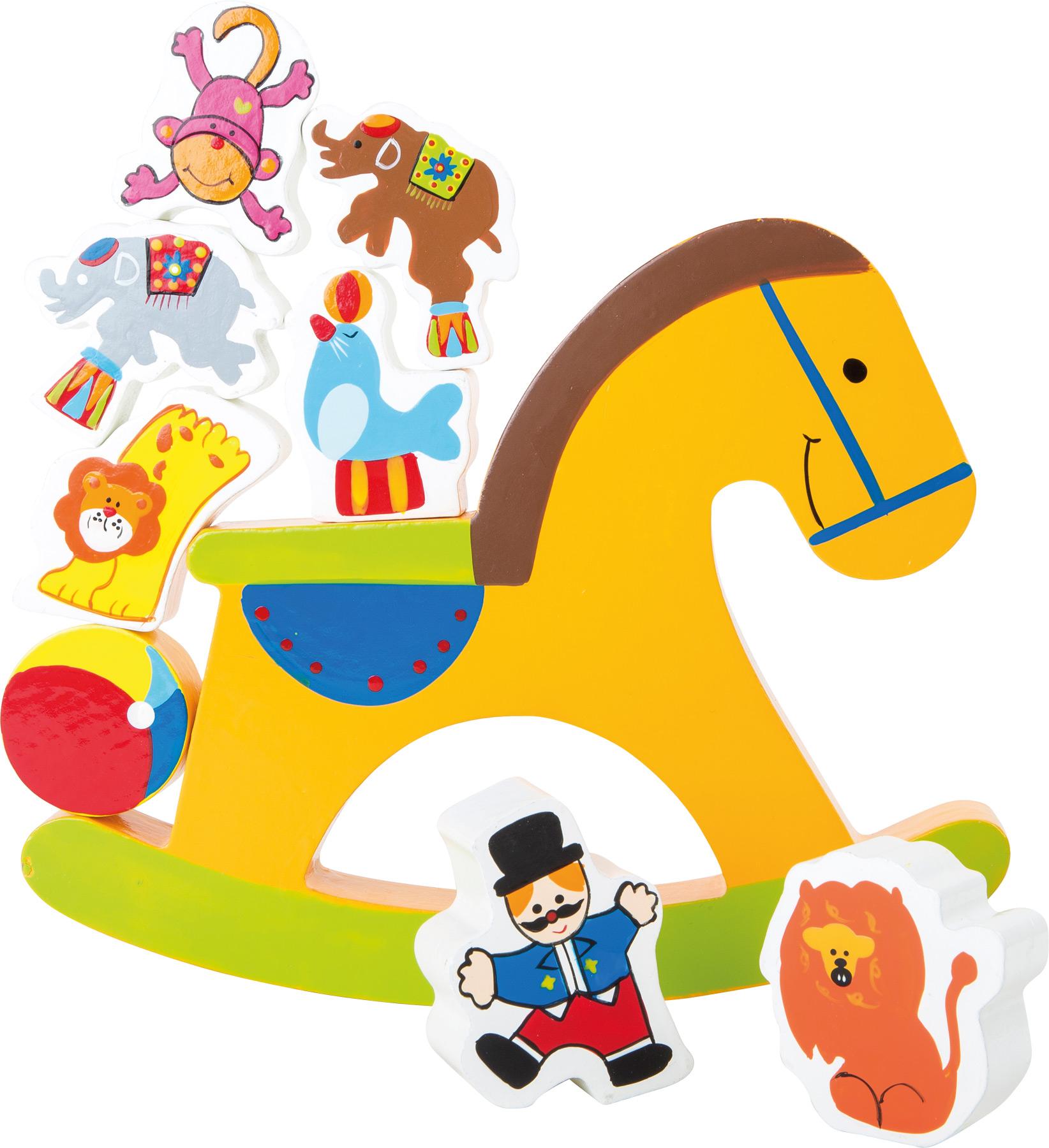 Small Foot Dřevěná motorická hra koník cirkus