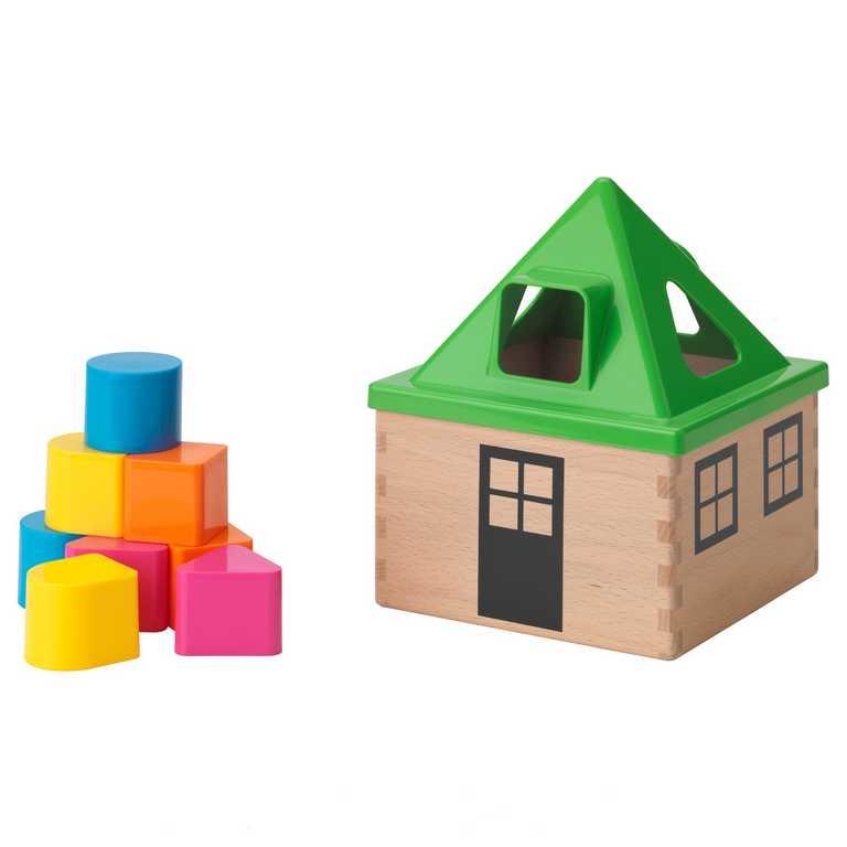 Dřevěné hračky - Dřevěná skládačka, barevná new design