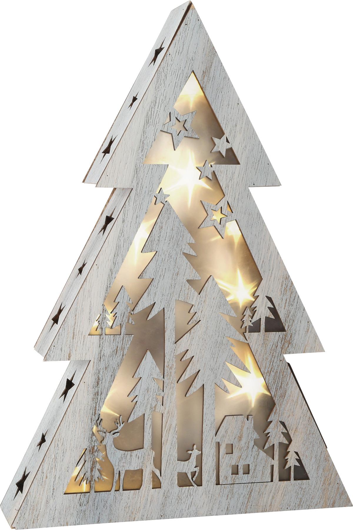 Small Foot Dřevěný vánoční stromeček se světlem