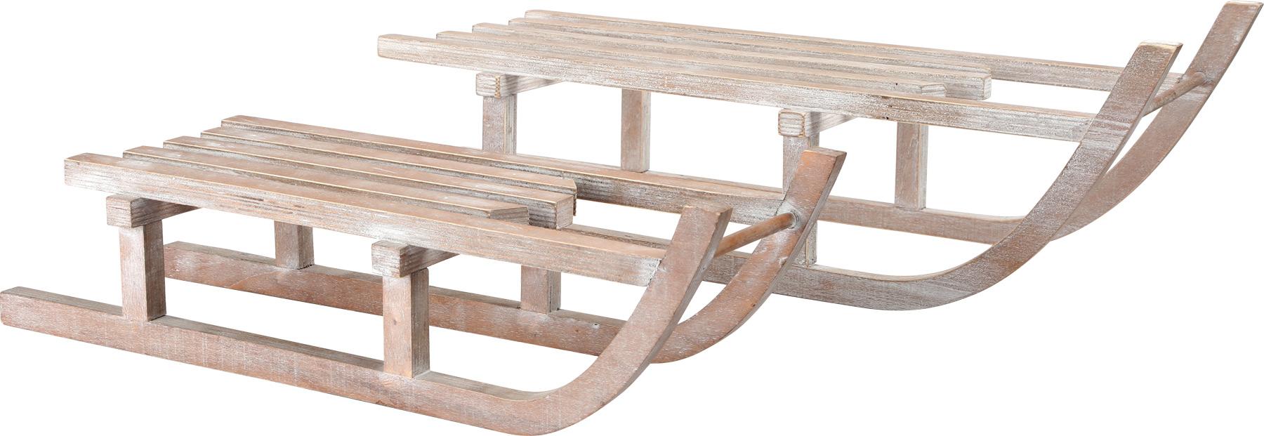 Small Foot Dřevěná dekorace  Sáňky velké 2ks