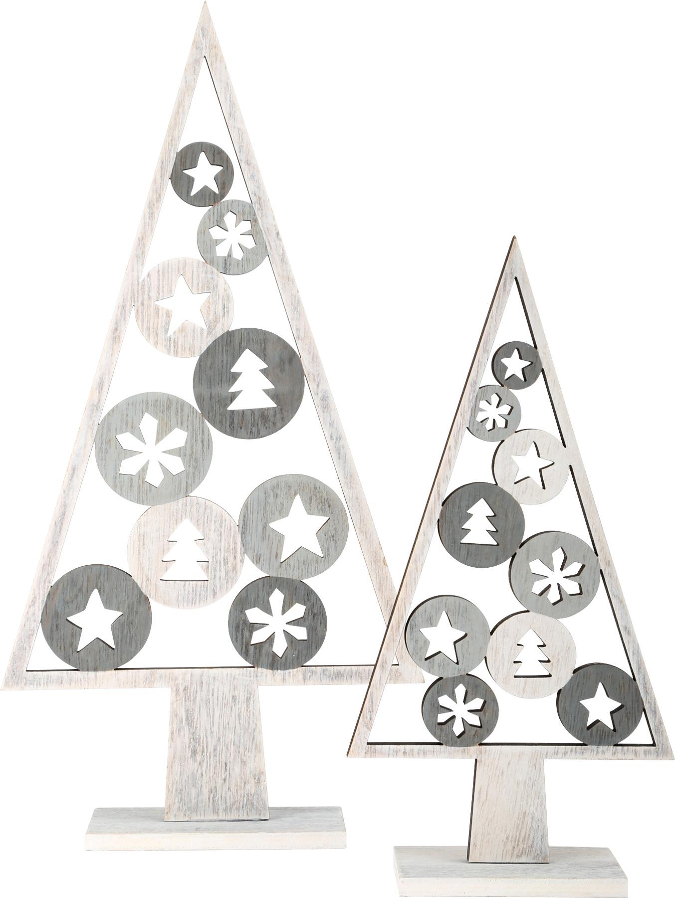 Small Foot Vánoční dekorace stromeček světlý 2 ks
