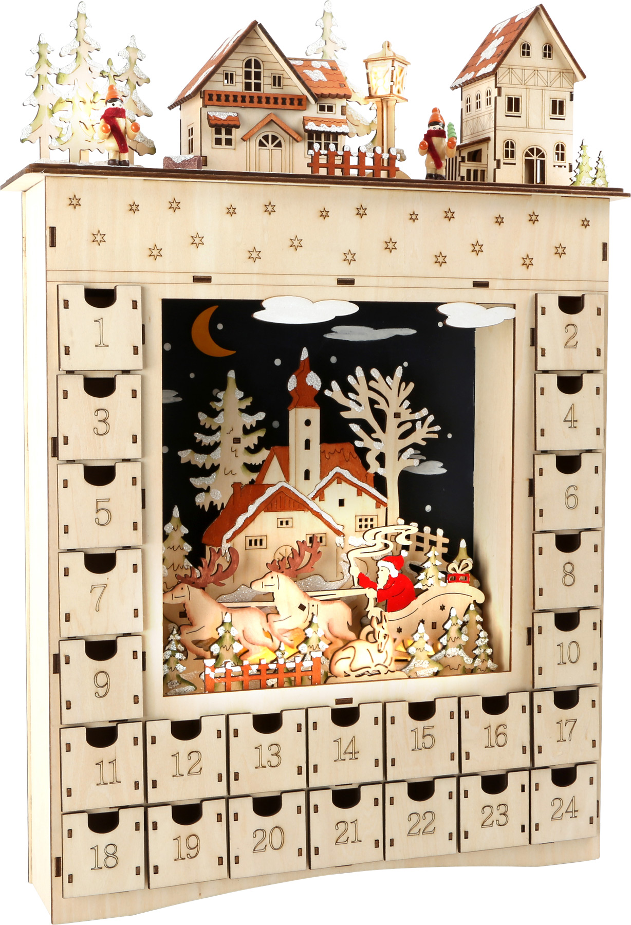Small Foot Dřevěný adventní kalendář zimní sen