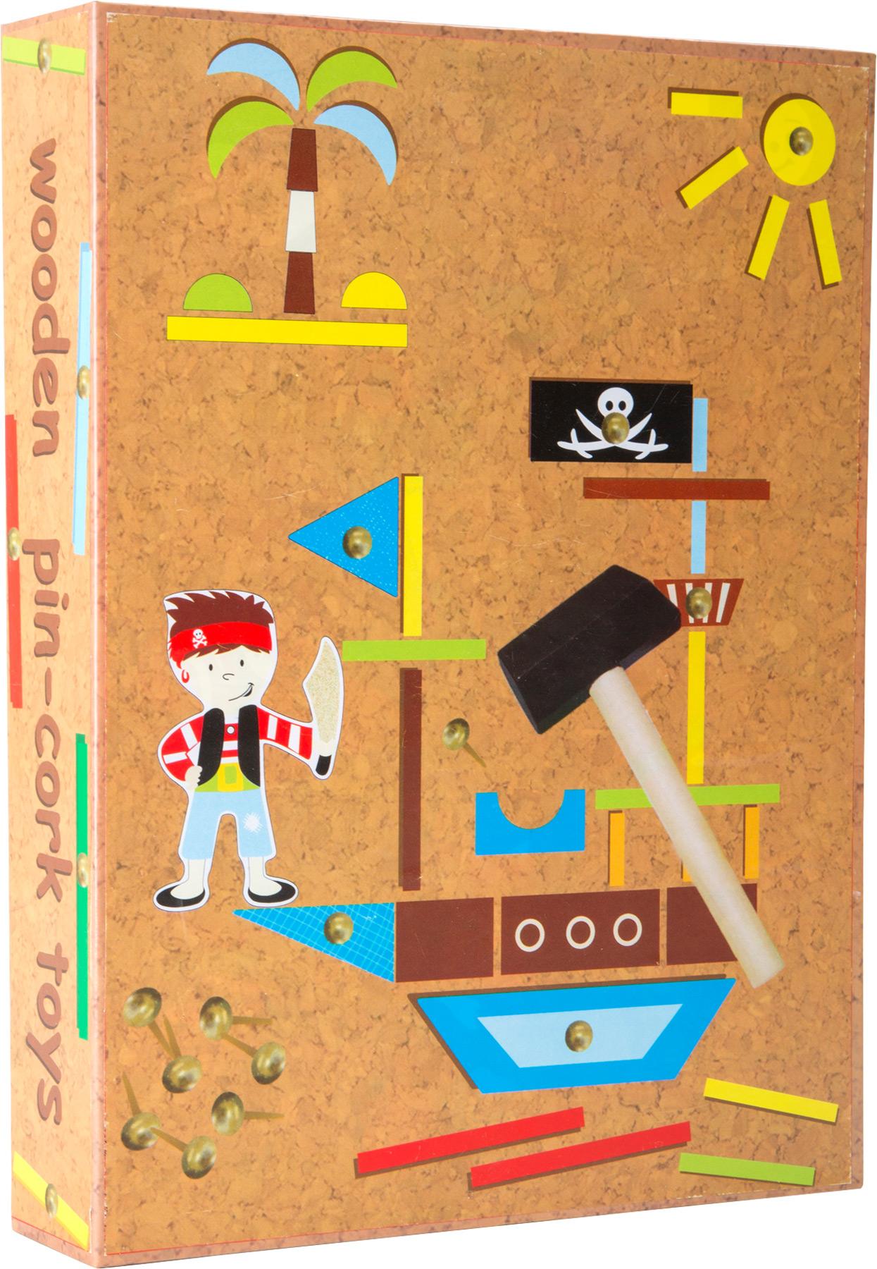 Dřevěná kreativní hra Piráti