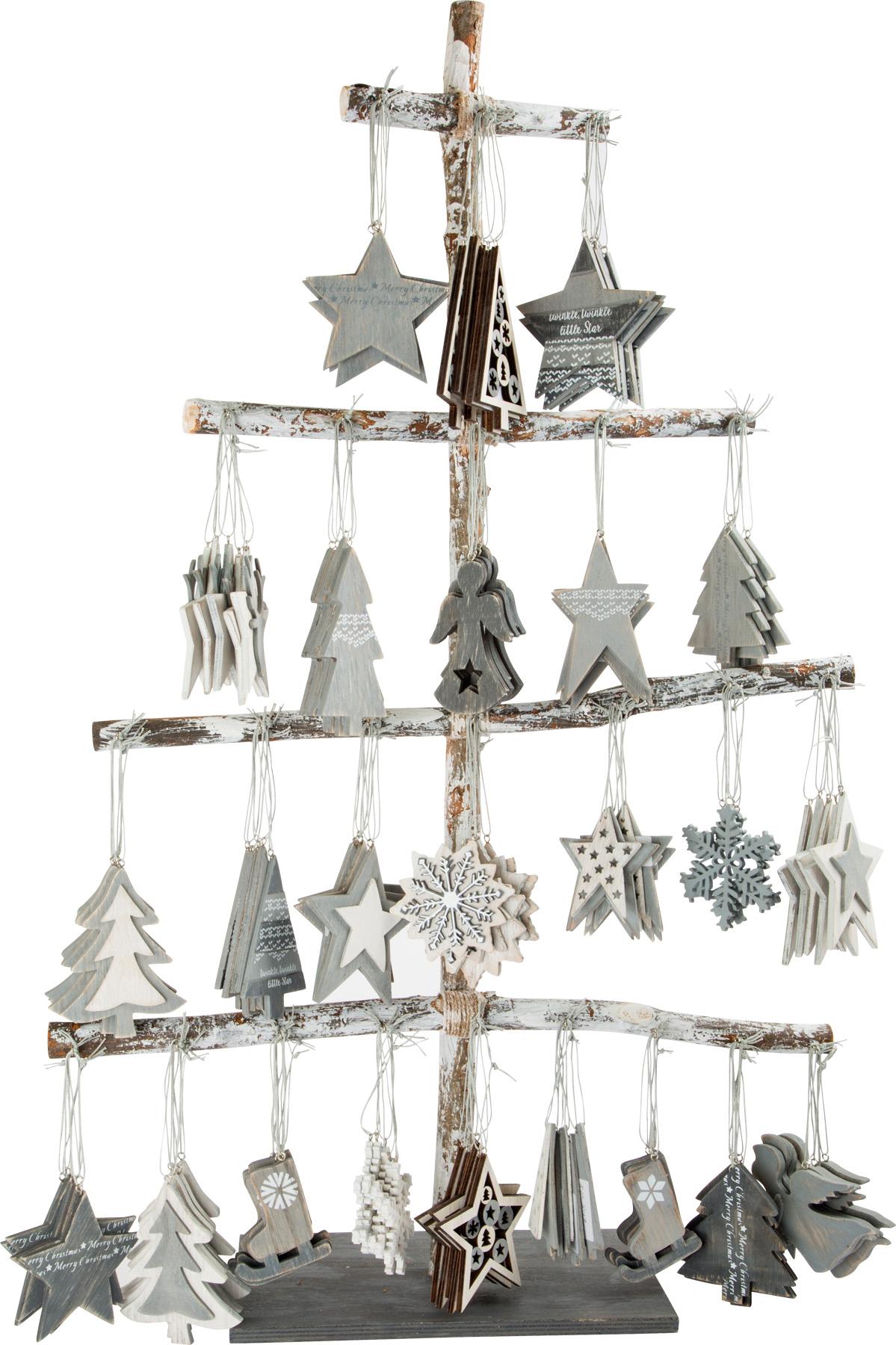 Small Foot  Dřevěný dekorační stromeček závěsný 144 ks