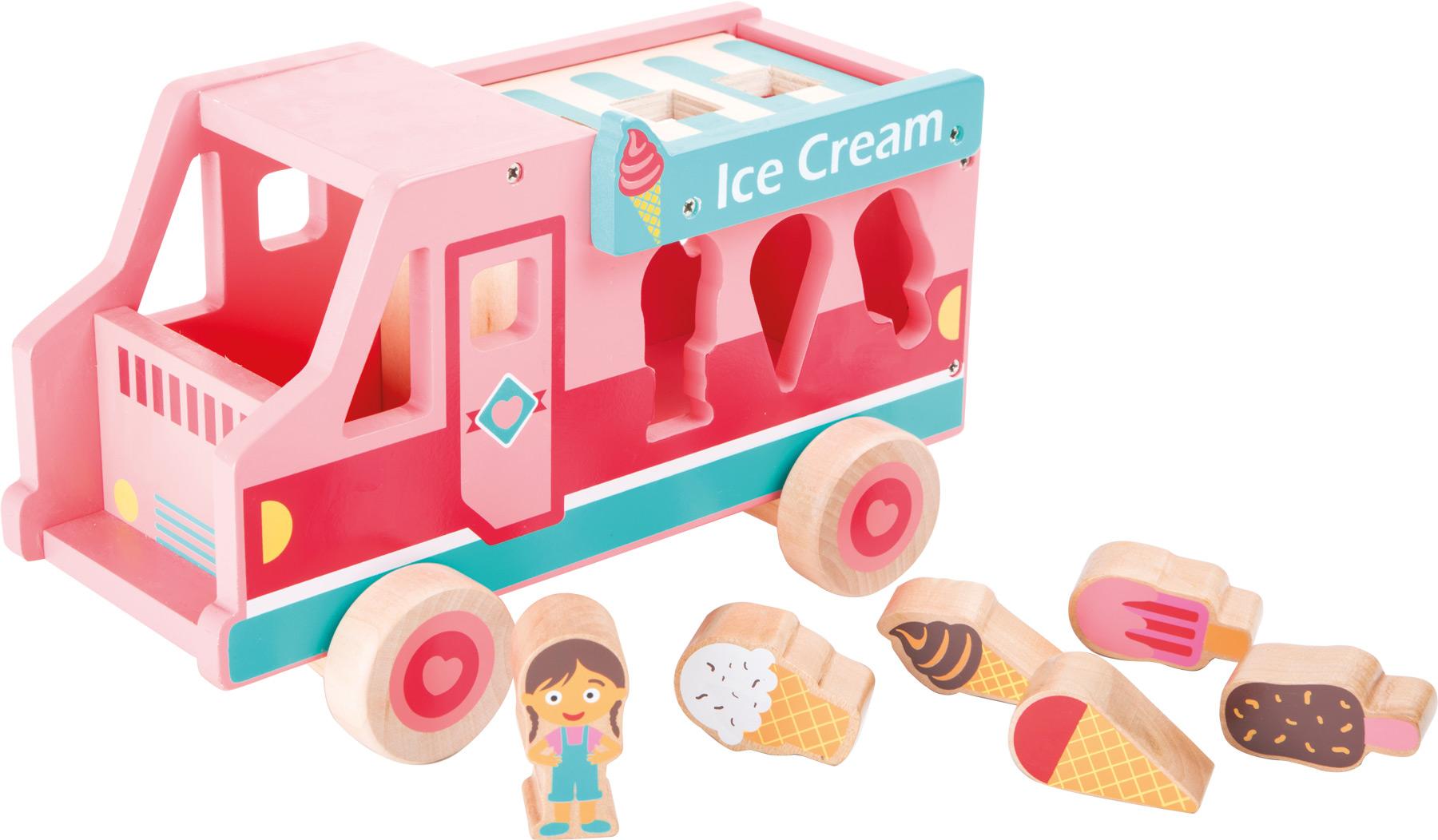 Small Foot Dřevěný vkládací zmrzlinový vůz