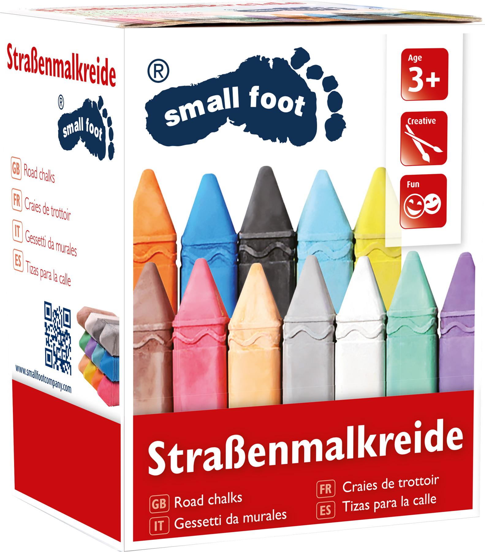 Small Foot Sada velké barevné křídy 3 balení