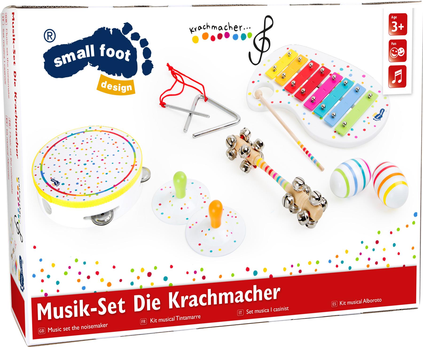 Small Foot Dřevěný muzikální hudební set s puntíky