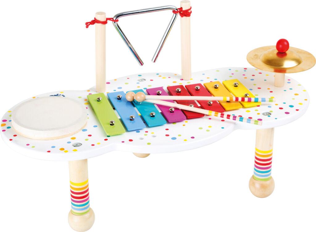 Small Foot Dřevěný muzikální hudební stoleček s puntíky - poškozený obal
