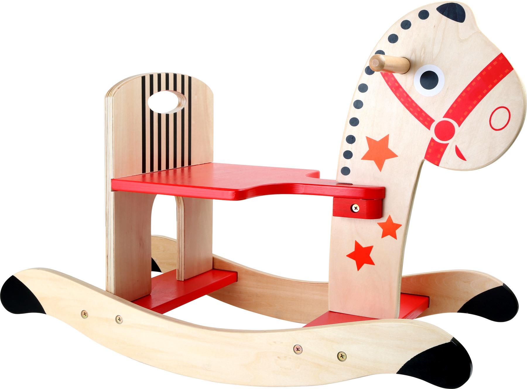 Small Foot Dřevěný houpací koník hvězda