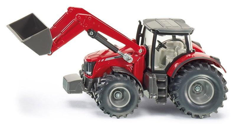 Siku Kovový model traktor Massey Ferguson s předním nakladačem