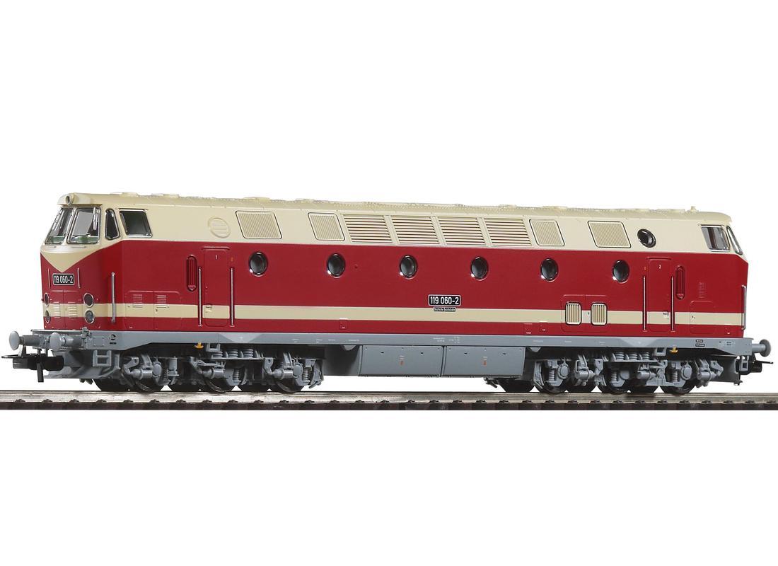 Piko Dieselová lokomotiva BR 119 (šedý rám podvozku) DR IV - 59930