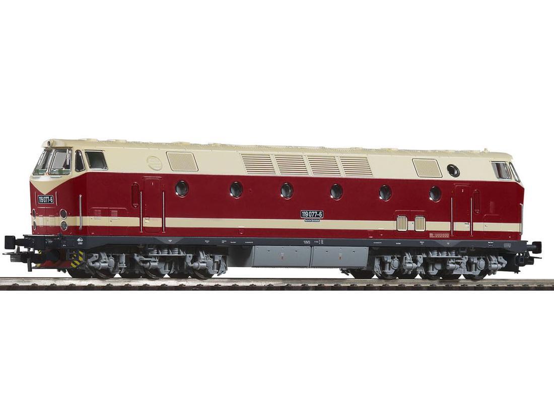 Piko Dieselová lokomotiva BR 119 (černý rám podvozku) DR IV - 59934