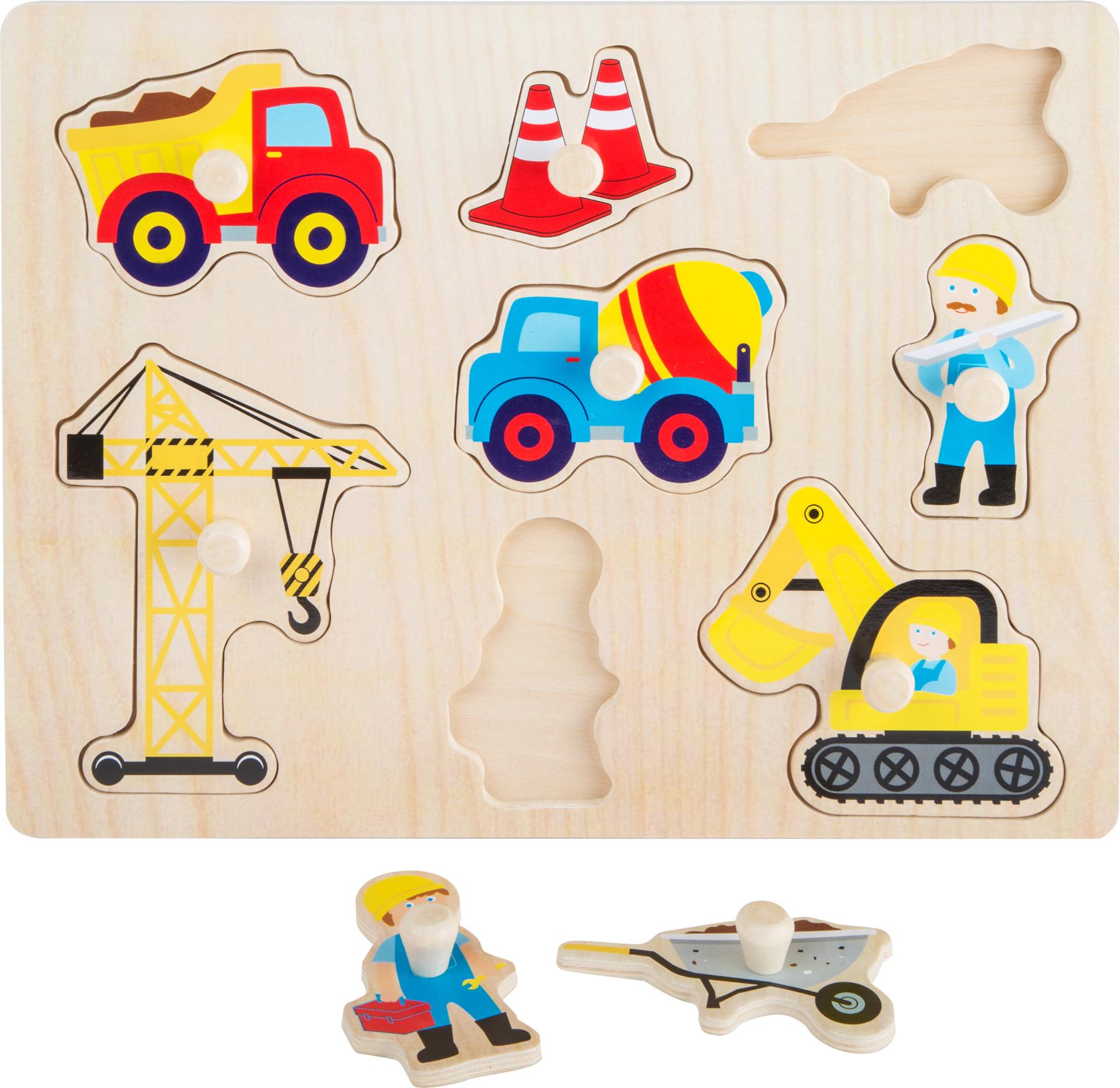 Dřevěná vkládačka - Dřevěné puzzle - Staveniště