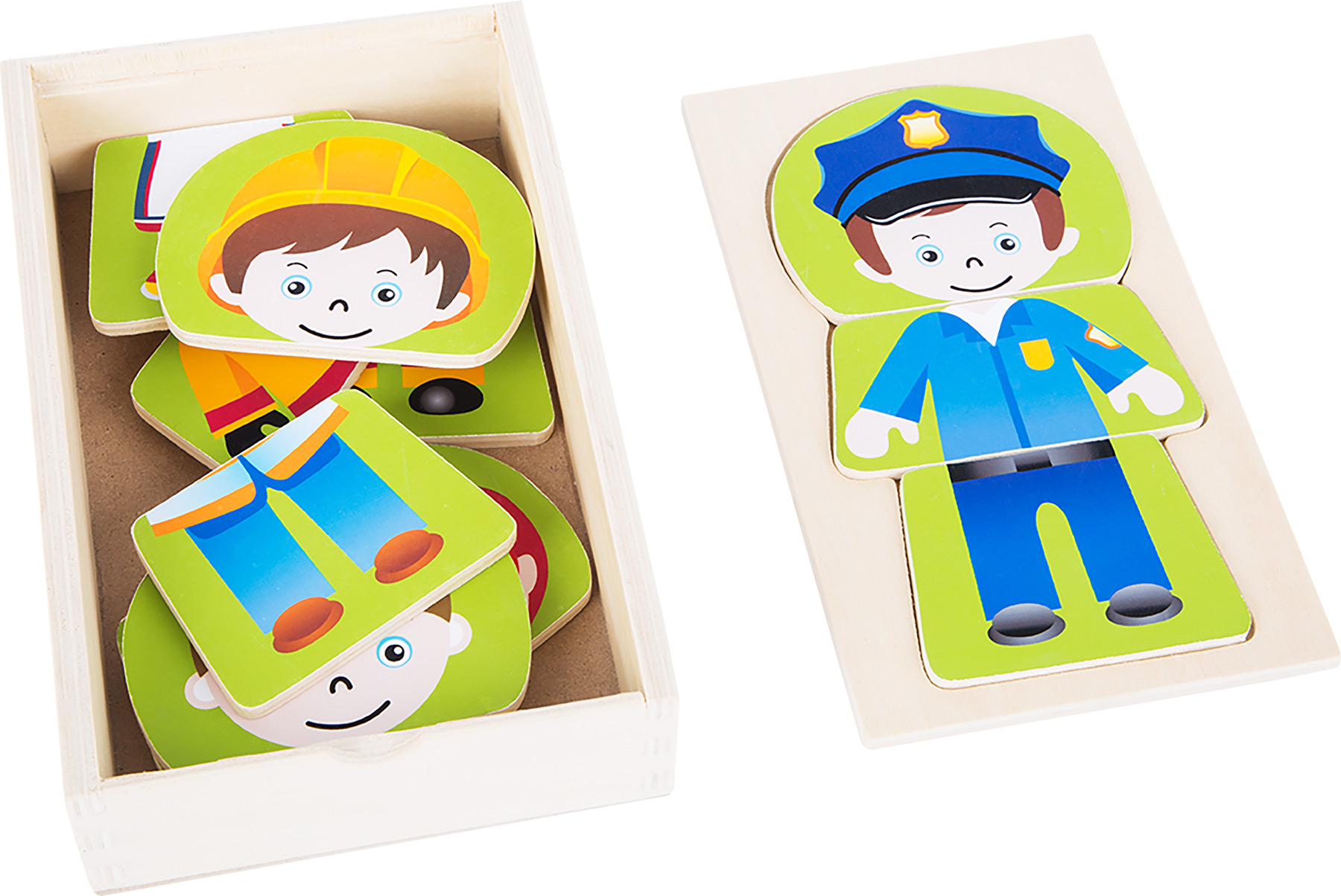 Small Foot Dřevěné puzzle chlapecký sen povolání