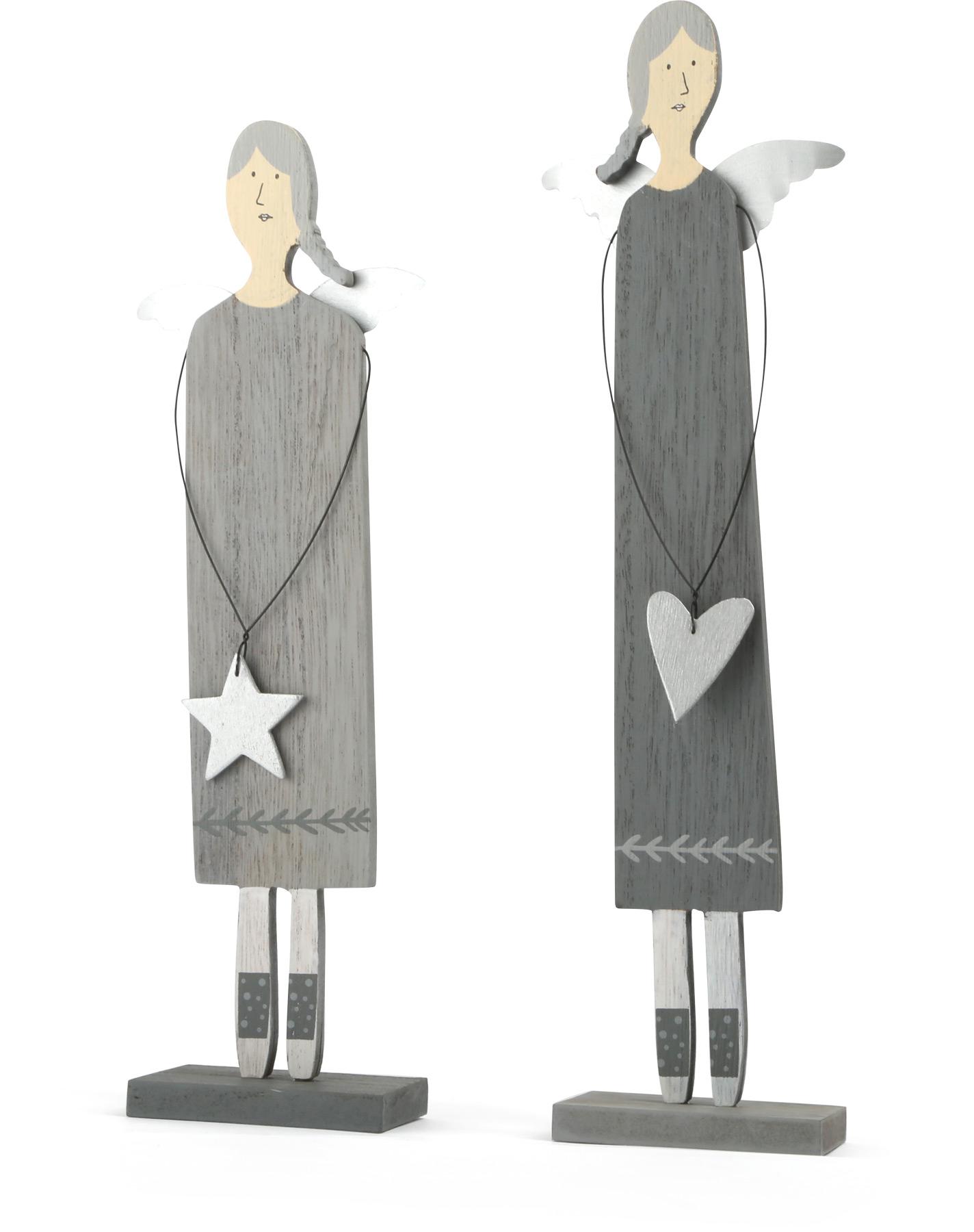 Small Foot Dřevěné vánoční dekorace anděl 2 ks