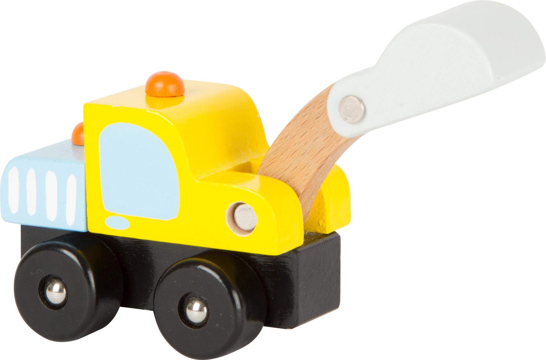 Dřevěná autíčka - Stavební stroje 1 ks