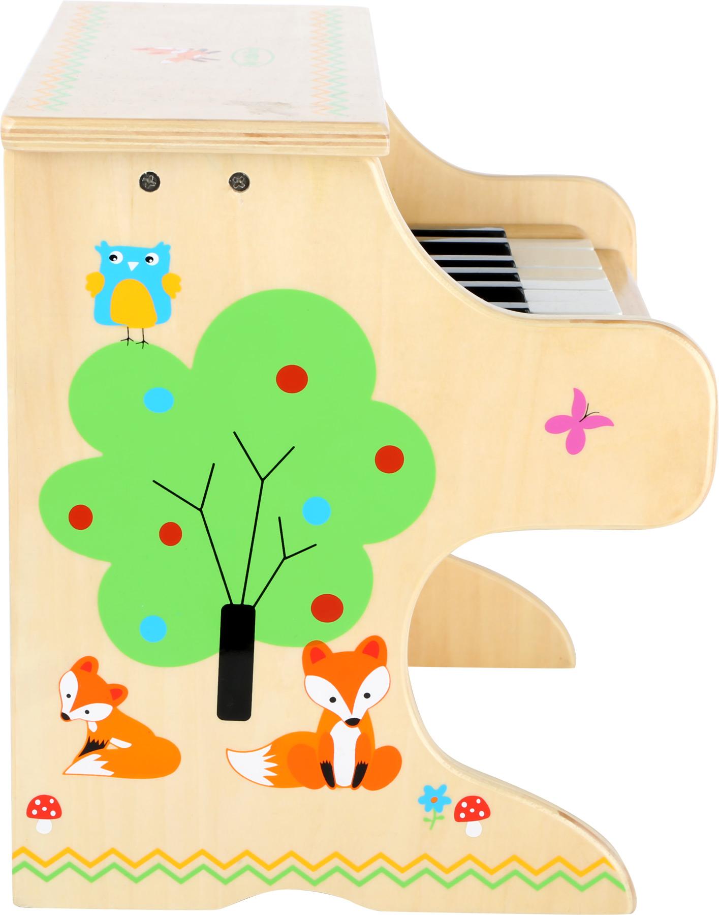 Small Foot Dřevěný klavír přírodní s liškou