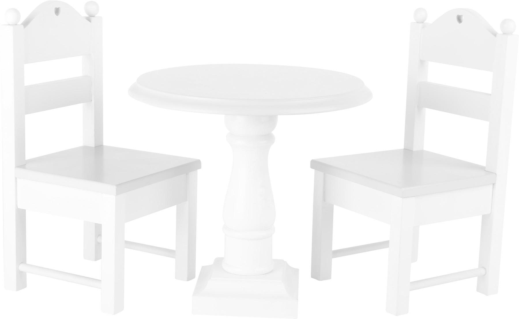 Small Foot Dřevěný set nábytku pro panenky bílý
