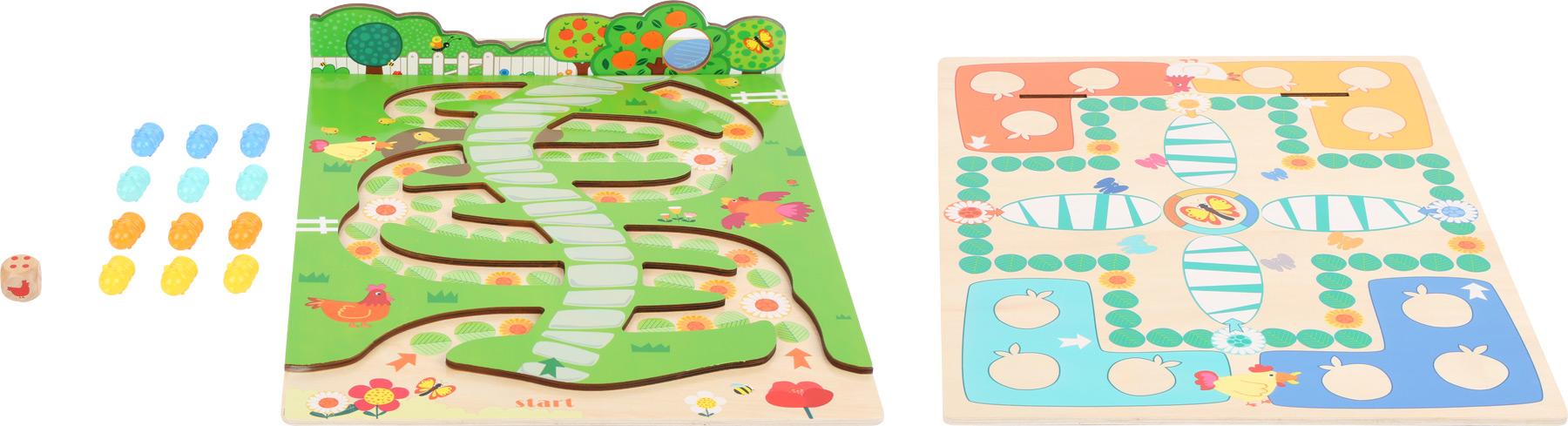 Small Foot Dřevěná hra 2 v 1 hravé housenky