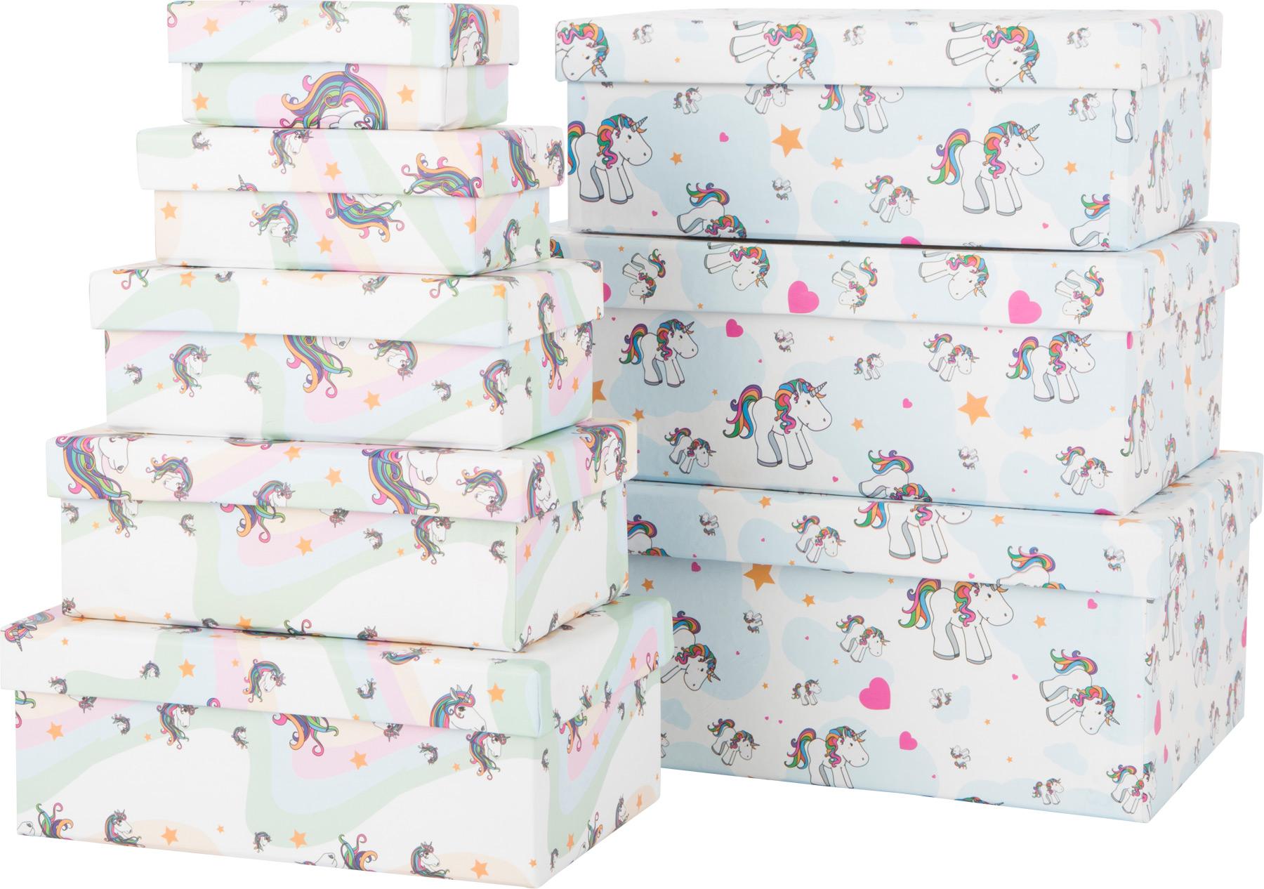 Small Foot Dárkové krabičky Unicorn 8 ks