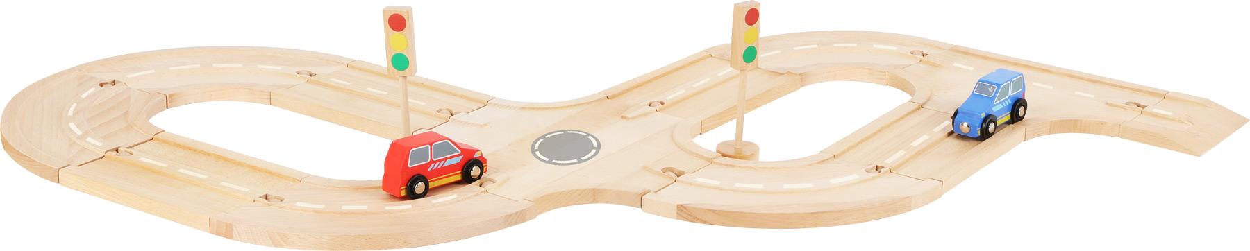 Small Foot Dřevěná autodráha s příslušenstvím