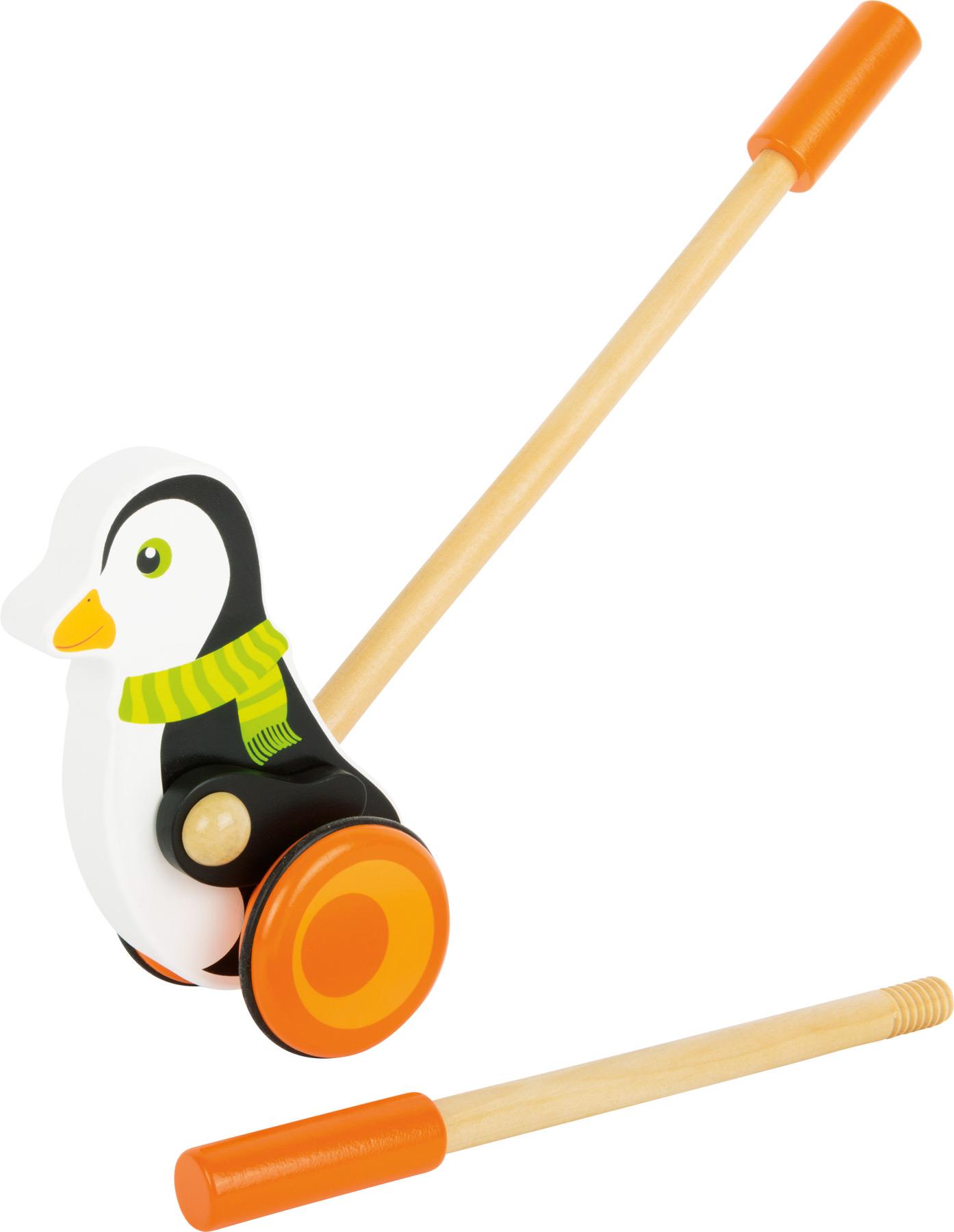Small Foot Dřevěný jezdík tučňák s šálou