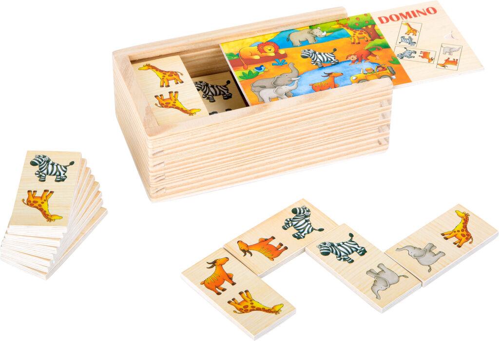 Small Foot Dřevěné domino Safari