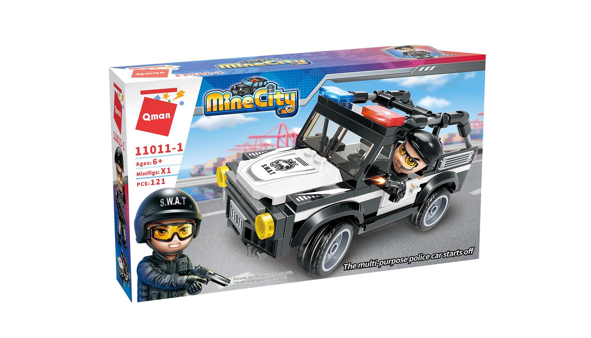 Qman Mine City Police 11011-1 Policejní auto